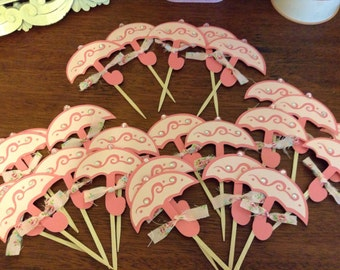 Cupcake Toppers, Food Sticks, Baby Shower Decorations, Party Decor