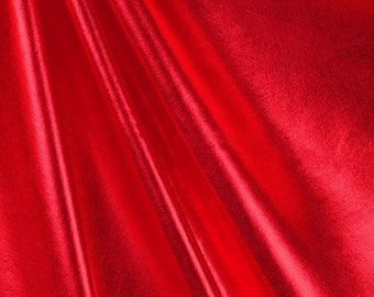 Metallic Foil Spandex Fabric by the yard - Red