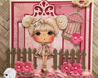 My Besties Marilyn Kitty Handmade Card