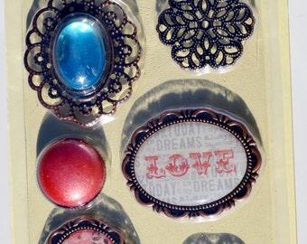 6 Piece Decorative Embellishments Collection, S24
