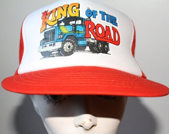 Vintage 80s King of the Road Mesh Snap Back Trucker Hat