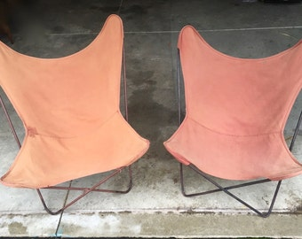 Pair of ORIGINAL Iron Hardoy Butterfly Chairs