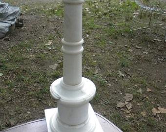nice great shape vintage antique italy italian mid CENTURY MARBLE column  LAMP