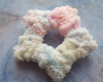 Fluffy Pastel Rainbow Star Hairclip