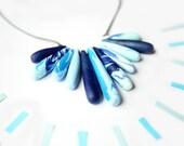 Blue Fan Necklace