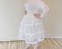 Vintage Lace Winter Wedding Ensemble/ Alternative Wedding/ Upcycled Ivory Wedding Separates/ Bridal Separates/ Wedding Sweater & Skirt