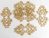 Brass Jewelry Wrap, base jewelry bail, jewelry supplies, jewelry making, raw brass, antique brass, 30 x 57mm, B'sue Boutiques, Item06091