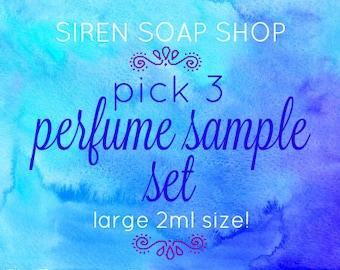 Pick 3 Perfume Oil Sample Set, Perfume Oil, Fragrance