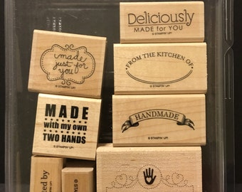 Stampin' Up!  Be The Star Retired Stamp Set Wood Mounted