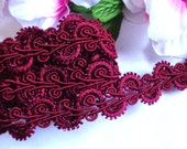 Braid, 1 inch wide purple red color 1 yard and 32 inch cut
