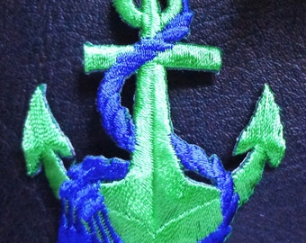 ANCHOR GREEN/BLUE-iron on applique