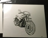 RESERVED Motorcycle Drawing