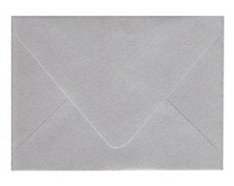 "10 Metallic Silver A6 Envelopes 4 3/4"" x 6 1/2"""