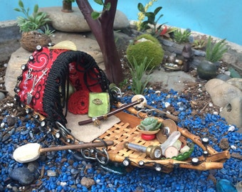 Fairy Garden Boat // Fary Garden House  // crystal quarts included