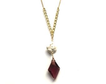 Purple Gem Necklace