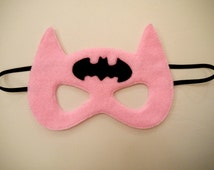 Bat Girl Batman Masks Spiderman Iron Man super hero Children's Mask Party bag filler favour Handmade and hand embroidered