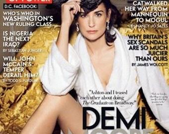 February 2007 - Vanity Fair -  Demi Moore - New (in plastic)