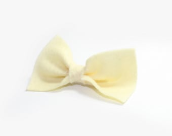Felt Bow Clip on Barrette