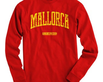 LS Mallorca Spain Tee - Long Sleeve T-shirt - Men S M L XL 2x 3x 4x - Gift, Mallorca Shirt, Majorca Shirt, Spanish Shirt, Palma Beach España