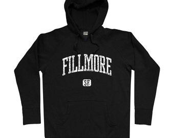 Fillmore San Francisco Hoodie - Men S M L XL 2x 3x - Fillmore Hoody, Sweatshirt, SF, Bay Area, California, Fillmore District - 4 Colors