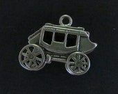 3D Stagecoach Vintage New Old Stock Sterling Silver Charm