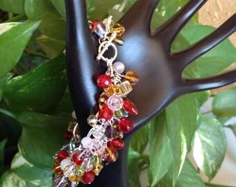 Cluster Beaded Bracelet