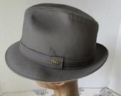 Hat Fedora London Fog Waterproof Hat Grey made in USA