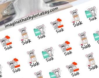 Sick Day planner stickers for your Erin Condren planner
