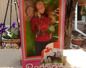 Canadian Barbie  ~  Canadian Barbie Dolls Of The World Collection 1987  ~  1987 Canadian Barbie New In Box  ~  RCMP Barbie