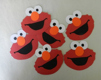 Elmo die cuts/Cupcake toppers/Centerpieces