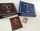 Set of Baseball Card Albums with 87 Blank Inserts and one Unopened pack of Baseball Cards Vintage Early 90s