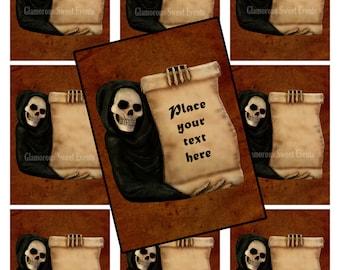 INSTANT DOWNLOAD, Blank Halloween Cards, Skeleton Cards, Blank Halloween Labels, Glamorous Sweet Events