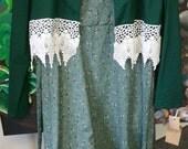 New Girls Long Modest Green Jumper  Dress with Jacket or Get A Custom Dress