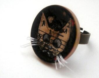 Whisker cat  ring