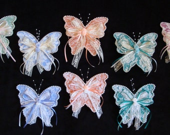 Lace Butterfly Clip