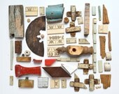 nice lot of small wood bits and pieces ruler pieces