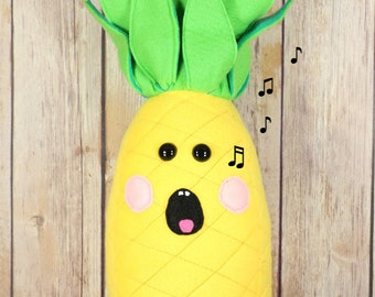 Pineapple Plush Toy, Life Size Pineapple stuffed toy, Kawaii Pineapple Plushie, Food Plush Toy - READY TO SHIP