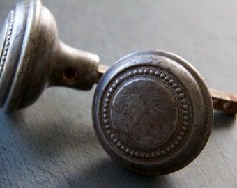 Rustic Beaded Colonial Revival Door Knob Set of 2