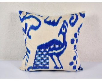 Ikat Pillow, Hand Woven Ikat Pillow Cover mpi433, Ikat throw pillows, Designer pillows, Ikat Pillows, Decorative pillows, Accent pillows