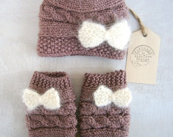 Newborn Sets, Baby Sets, Baby Girl Sets, Baby Girl Leg Warmers and Hat Set