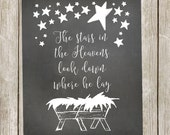 Christmas Printable/Away in a Manger - 8x10