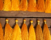 "Silky Tassels 3"" inches Set Of 20 Gold Shades Tassels/ Gold Tie Thread"