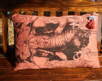 Sure T Shirt Upcycled Pillow Cover Ganesh And Om Design
