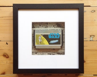Star Wars Famicom Game Framed Wall Art - Retro Gaming Gamer Geek Picture Home Decor Computer Videogames