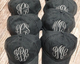 Team Monogrammed Ball Cap Ladies  Personalized Ball Cap Teens Bridesmaids Girls