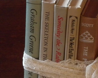 Vintage Year Round Book Collection ~ Home Decor ~ Vintage Display Book Collection Home Display//