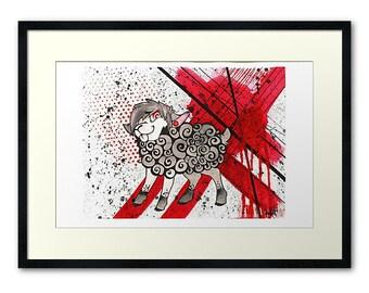 Trash Polka Sheep Fine Art Print