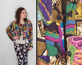 Gypsy Cropped Blouse Rainbow Brass Bells 1990s INSTYLE Fly Girl