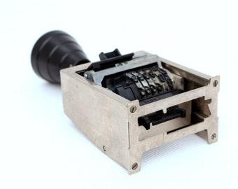 Vintage numbering machine, Numbering stamp, Stamp from Europe, Metal Seal