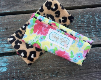 Leopard and Floral Carseat Strap Covers
